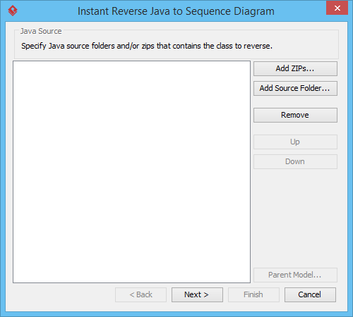 Does sequence diagram reverse engineering from Java source ...